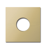 Basalte Auro wall cover - brushed brass