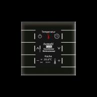 MDT Glazen centrale bedieneenheid met kleuren display en temperatuursensor zwart