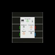 MDT Glazen KNX tastsensor II Smart met temperatuursensor zwart