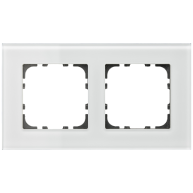 MDT Glazen afdekraam voor 55 mm range 2-voudig wit