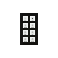MDT Glazen KNX tastsensor 8-voudig Plus zwart temperatuur Sensor