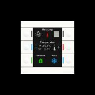 MDT KNX tastsensor Smart 86 met temperatuursensor zuiver wit
