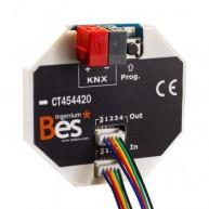 Ingenium Bes KNX 4x digitale ingang / pulsdrukkerinterface met led-uitgangen