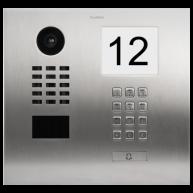 Doorbird Intercom inbouw geborsteld RVS - 1 beldrukker, codepaneel, info module