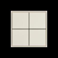 Ekinex KNX 4 voudige taster met vierkante wippen Zuiver wit