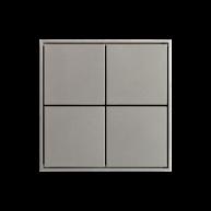 Ekinex KNX 4 voudige taster met vierkante wippen Grijs