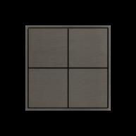 Ekinex KNX 4 voudige taster met vierkante wippen Nikkel