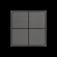 Ekinex KNX 4 voudige taster met vierkante wippen Titanium