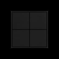 Ekinex KNX 4 voudige taster met vierkante wippen Carbon