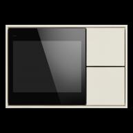 Ekinex KNX Touch & See display met 2 voudige taster Zuiver wit