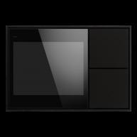 Ekinex KNX Touch & See display met 2 voudige taster Zwart