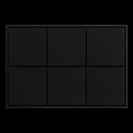 Ekinex KNX 6 voudige taster met vierkante wippen Zwart