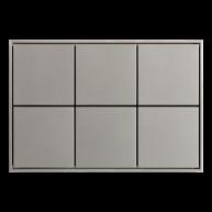 Ekinex KNX 6 voudige taster met vierkante wippen Grijs