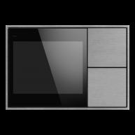 Ekinex KNX Touch & See display met 2 voudige taster Aluminium