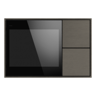 Ekinex KNX Touch & See display met 2 voudige taster Nikkel