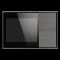 Ekinex KNX Touch & See display met 2 voudige taster Titanium