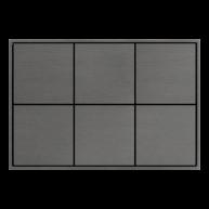 Ekinex KNX 6 voudige taster met vierkante wippen Titanium