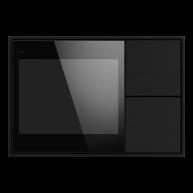 Ekinex KNX Touch & See display met 2 voudige taster Carbon