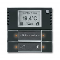 ABB Ruimtetemperatuurregelaar future linear carat KNX ruimtethermostaat f-antraciet 6124/01-81