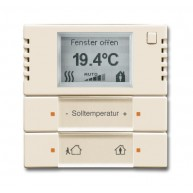 ABB Ruimtetemperatuurregelaar future solo future linear carat KNX ruimtethermostaat s-ivoor 6124/01-82