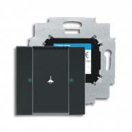 ABB Tastsensor future linear carat KNX sensor 1v m busaank f-antraciet 6125/01-81