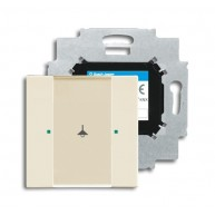 ABB Tastsensor future solo future linear carat KNX sensor 1v m bau s-ivoor 6125/01-82