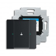 ABB Tastsensor future linear KNX sensor 1v m bau f-matzwart 6125/01-885