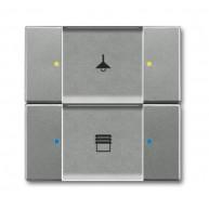 ABB Tastsensor solo KNX sensor multifunct 2/4v s-grijs met 6126/02-803