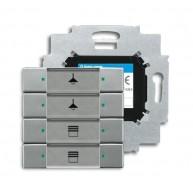 ABB Tastsensor solo KNX sensor 4v m bau s-grijs metallic 6127/01-803