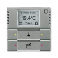 ABB Tastsensor solo KNX 2v ruimtethermostaat s-grijs met 6128/01-803