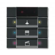ABB Tastsensor future linear carat KNX IR interface + 3v f-antraciet 6129/01-81