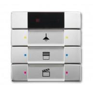 ABB Tastsensor pure stainless steel KNX IR interface + 3v pure-rvs 6129/01-866