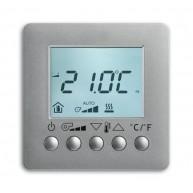 ABB Ruimtetemperatuurregelaar i-bus KNX fan-coil RTR display opb f-aluzilver 6138/11-83