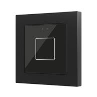 Zennio Flat 55 X1 Capacitieve drukknop 1-voudig zwart