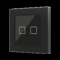 Zennio Flat 55 X2 Capacitieve drukknop 2-voudig zwart