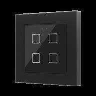 Zennio Flat 55 X4 Capacitieve drukknop 4-voudig zwart