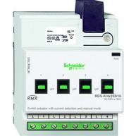 Schneider Electric KNX schakelactor 4 voudig 16A met stroomdetectie en handbediening