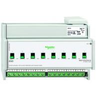 Schneider Electric KNX schakelactor 8 voudig 16A met stroomdetectie en handbediening