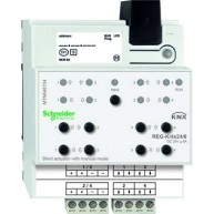 Schneider Electric KNX jaloezieactor 4x 24V 6A met handbediening