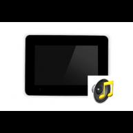 Touch-pc 12 inch zwart glas inbouw met audiofunctie