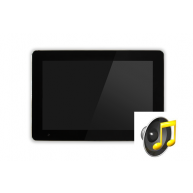 Touch-pc 19 inch widescreen zwart glas inbouw met audiofunctie