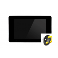 Touch-pc 19 inch zwart glas extra brede rand inbouw met audio