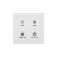 MDT KNX RF Glazen tastsensor 4-voudig Plus inclusief schakelactor RTM wit