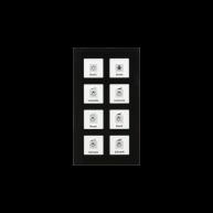 MDT KNX RF Glazen tastsensor 8-voudig Plus inclusief schakelactor RTM zwart