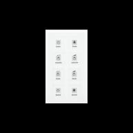 MDT KNX RF Glazen tastsensor 8-voudig Plus inclusief schakelactor RTM wit