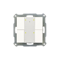 MDT KNX RF Taster 4-voudig Plus inclusief schakelactor glanzend wit