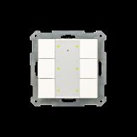 MDT KNX RF Taster 6-voudig Plus inclusief schakelactor glanzend wit