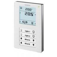 Siemens KNX Ruimtebediening temperatuur met 2x LCD QMX3.P37 - wit
