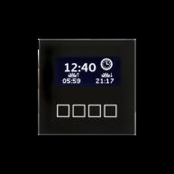 MDT Glazen centrale bedieneenheid met LCD display zwart