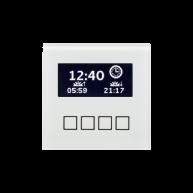 MDT Glazen centrale bedieneenheid met LCD display wit